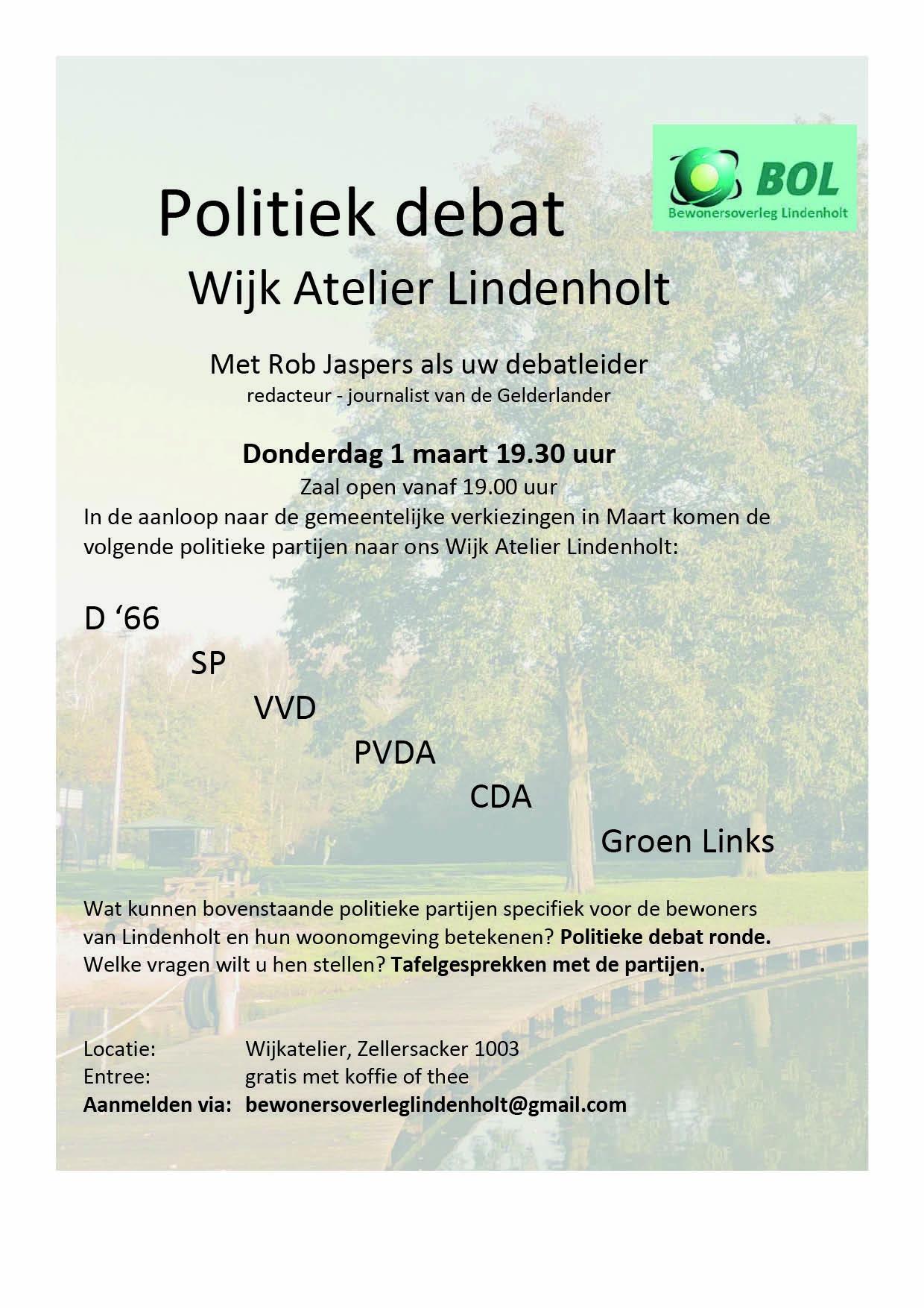politiek debat gemeenteraadsverkiezingen in de WAL