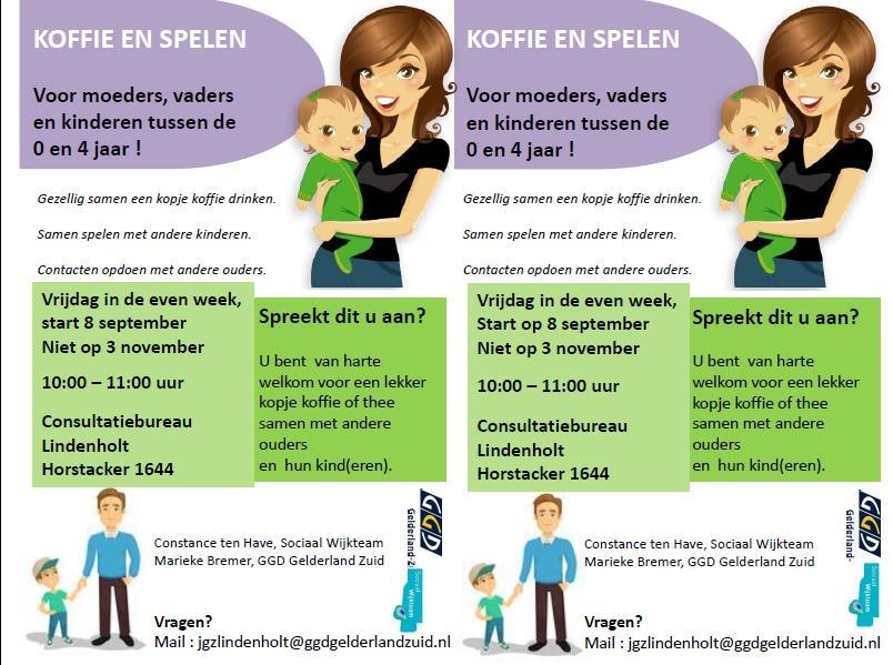 KOFFIE EN SPELEN Voor moeders, vaders en kinderen tussen de 0 en 4 jaar !