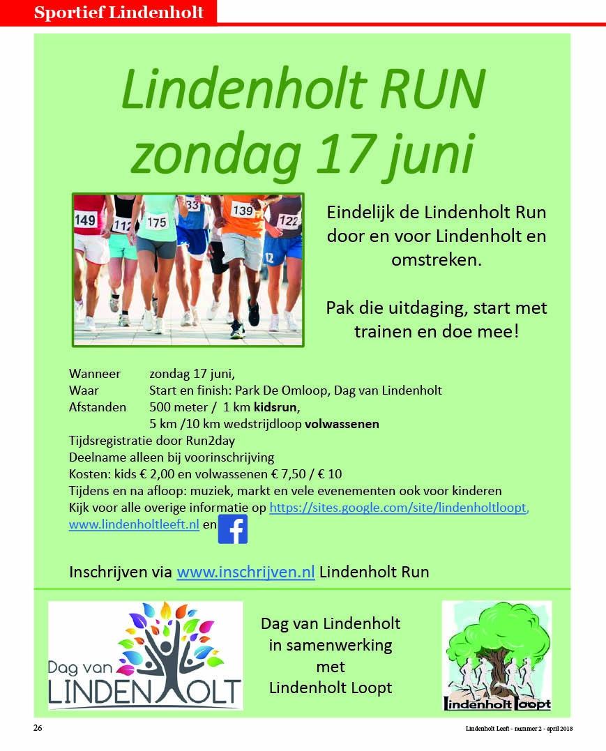Lindenholt Run op Dag van Lindenholt